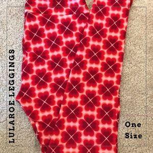 New One Size Heart Pattern LuLaRoe Leggings!